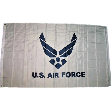 Ruffin Flag Air Force Wings White 3ft x 5ft Polyester Flag