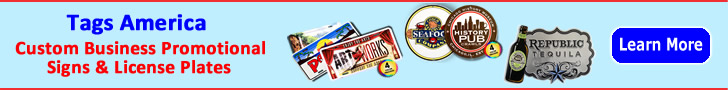 Tags America - custom business promotional signs and license plates
