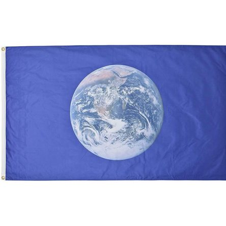 Ruffin Flag Earth 3ft x 5ft Polyester Flag
