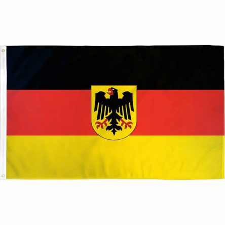 Ruffin Flag Germany w/ Eagle 3ft x 5ft Polyester Flag