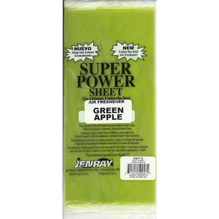 Jenray Green Apple Power Sheet, Under the Seat Air Freshener