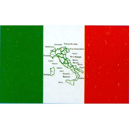 Ruffin Flag Italy/Map 3ft x 5ft Polyester Flag
