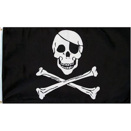 Ruffin Flag Jolly Roger Pirate Patch 3ft x 5ft Polyester Flag