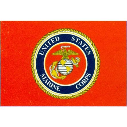Ruffin Flag Marine Corps. Emblem 3ft x 5ft Polyester Flag