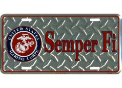 HangTime Semper Fi 6×12 US Marines License Plate
