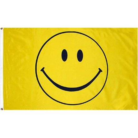 Ruffin Flag Smiley Face 3ft x 5ft Polyester Flag