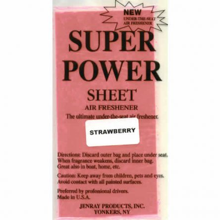 Jenray Strawberry Super Power Sheet, Under the Seat Air Freshener