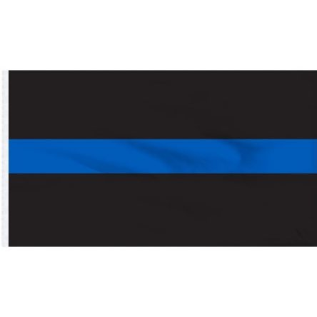 Ruffin Flag Thin Blue Line 3ft x 5ft Polyester Flag