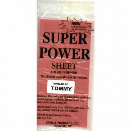 Jenray Tommy Super Power Sheet, Under the Seat Air Freshener