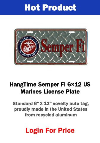 Hot Product - Semper Fi License Plate