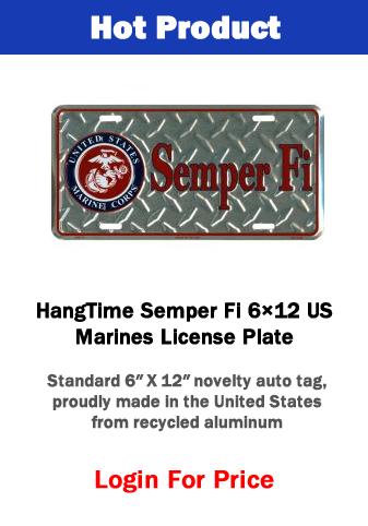 Hot Product - Semper Fi License Plate