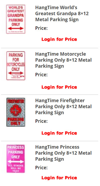 Metal Sign product category